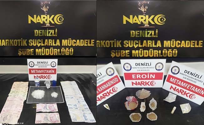 Denizli'de zehir tacirlerine operasyon: 22 gözaltı