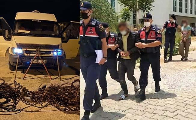 70 bin TL'lik kabloyu eritirken yakalanan çift serbest kaldı