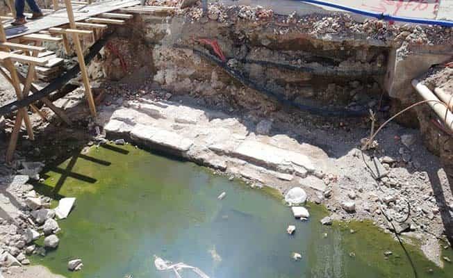 Altyapı çalışması sırasında 300 yıllık bedesten bulundu
