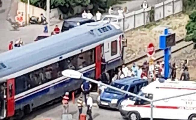 Aydın'da tren kazası ucuz atlatıldı