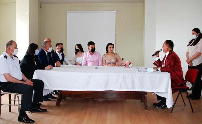 Başkan Akcan nikah kıydı, Vali Atik ve protokol şahitlik etti