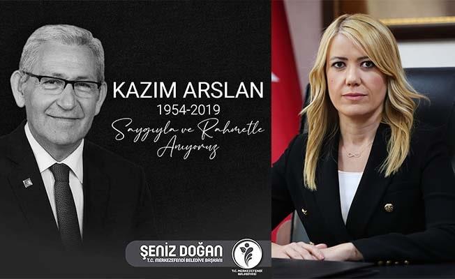Başkan Doğan, ölüm yıldönümünde Kazım Arslan'ı unutmadı