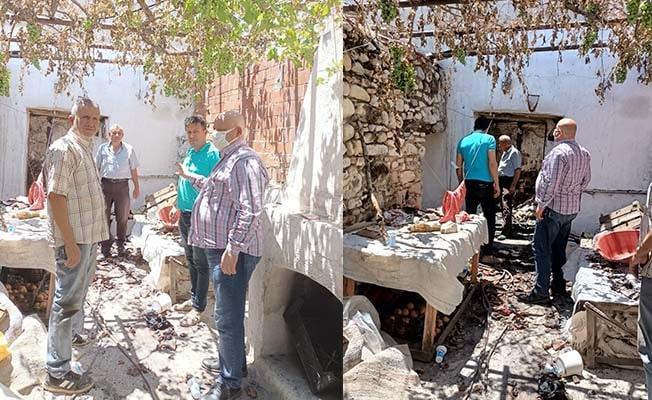 Başkan Şevik evi yanan aileyi ziyaret etti