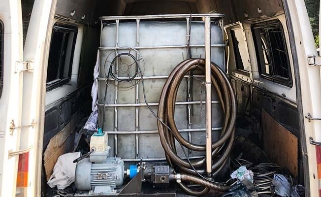 Denizli'de 2 bin litre karışımlı akaryakıt ele geçirildi