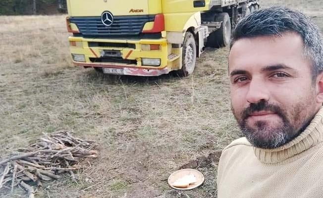 Devrilen tomruk yüklü tırın sürücüsü hayatını kaybetti