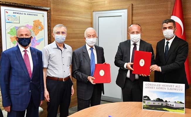 Hayırseverlerin yaptıracağı okul için protokol imzalandı