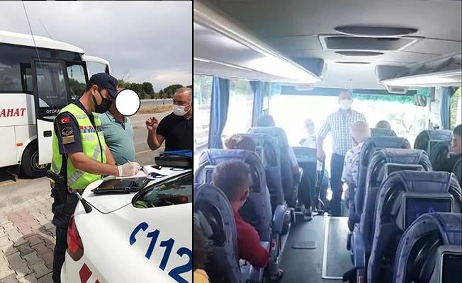 Jandarma toplu taşıma araçlarını yolcu gibi binip denetledi