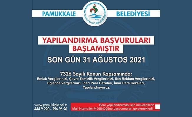 Pamukkale Belediyesinden yapılandırma imkanı