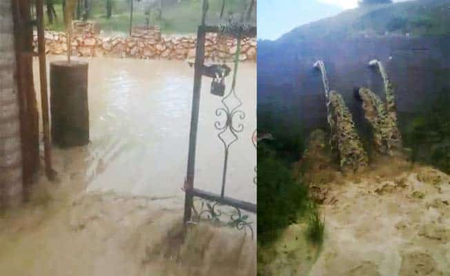 Yağmur sonrası göl ve dere taştı, restoran sular altında kaldı