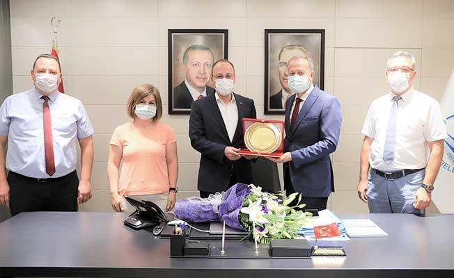 Başkan Örki'ye, İlçe Milli Eğitim Müdürü Çimen'den teşekkür