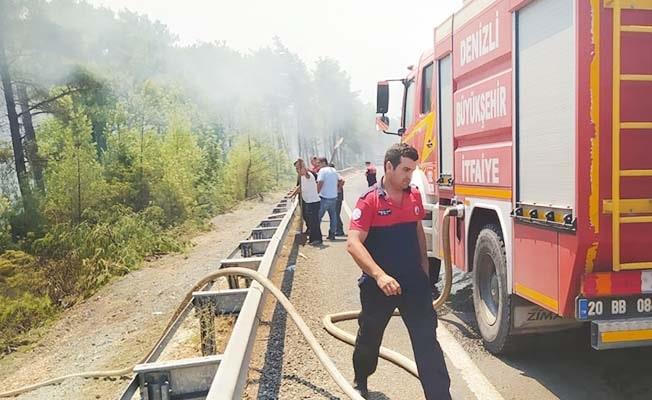 Büyükşehir İtfaiye ekipleri yangın bölgelerinde görev başında