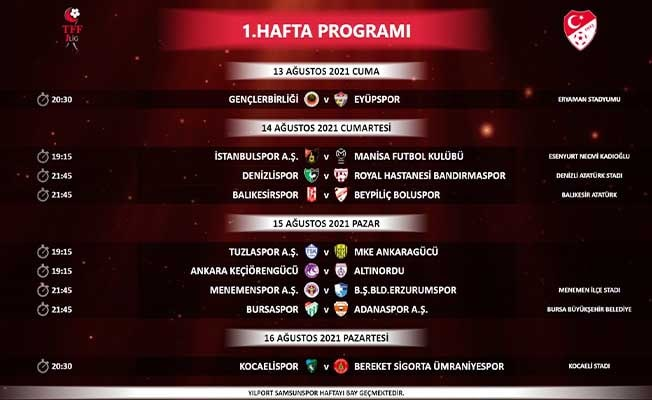 Denizlispor'un ilk 3 maç programı belli oldu