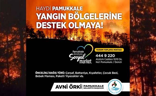 Haydi Pamukkale, yangın bölgeleri için ele ele vermeye!