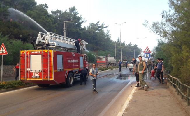Marmaris-İçmeler karayolu trafiğe kapatıldı