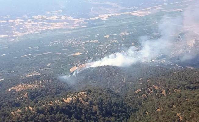 Nazilli'de çıkan yangını söndürme çalışmaları sürüyor