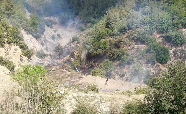 Buldan'da orman yangını vatandaşların desteğiyle kısa sürede söndürüldü
