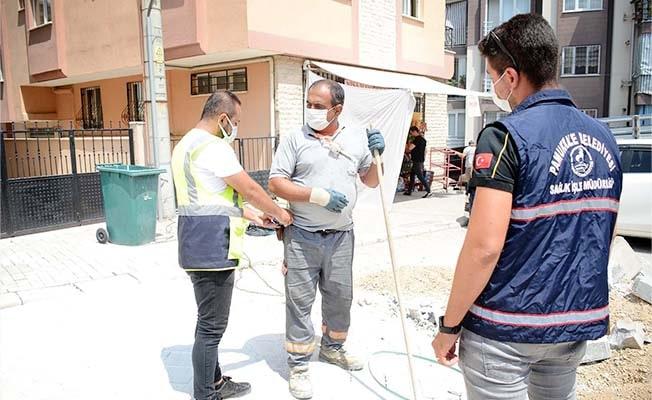 Pamukkale Belediyesi personeline iş hijyeni ölçümü uyguladı