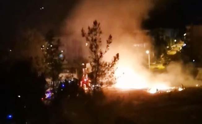 Askeri kışla yakınında ateş yakarak kaçan şüpheli yakalandı
