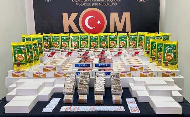 Binlerce kaçak tütün ürünü yakalandı