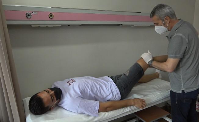 Denizlisporlu futbolcular, Egekent Hastanesi'nde sağlık kontrolünden geçti