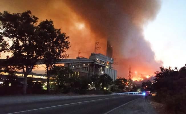 Milas'ta alevler termik santrale sıçradı