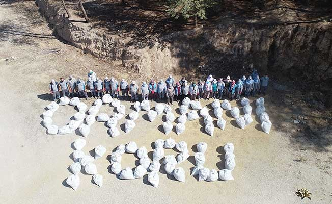 """Pamukkale Belediyesinden anlamlı mesaj; """"Ormanı Koru"""""""