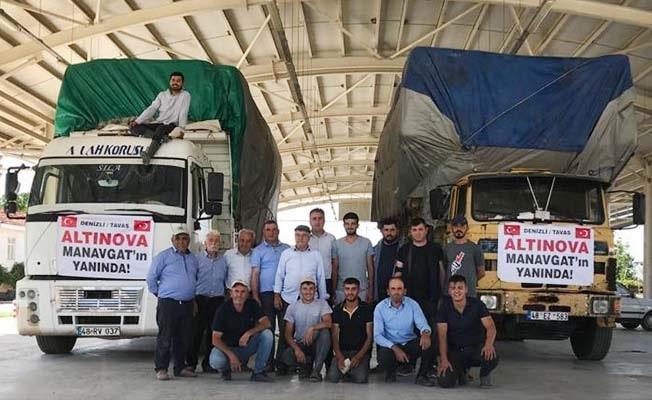 Tavaslı gençler, Manavgat'taki yangın mağdurları için el ele verdi
