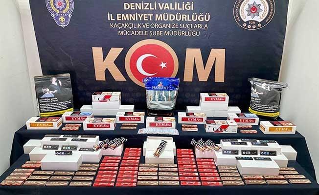 3 ayrı operasyonda onlarca kaçak ürün ele geçirildi