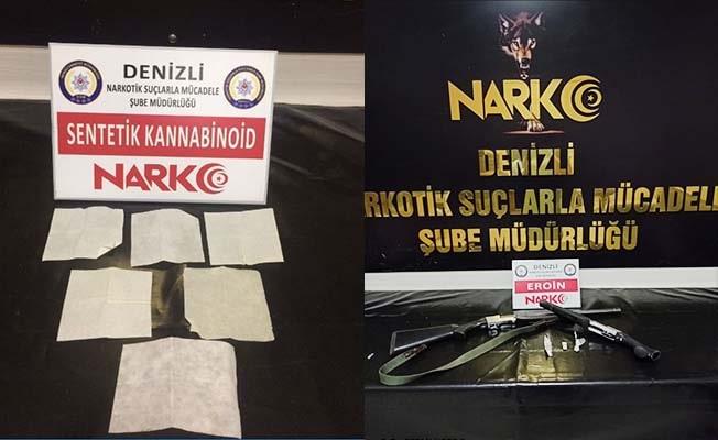 Denizli'de yakalanan 12 uyuşturucu tacirinden 9'u tutuklandı