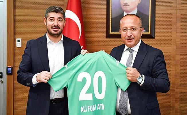 Denizlispor Başkanı Mehmet Uz'dan Vali Atik'e ziyaret