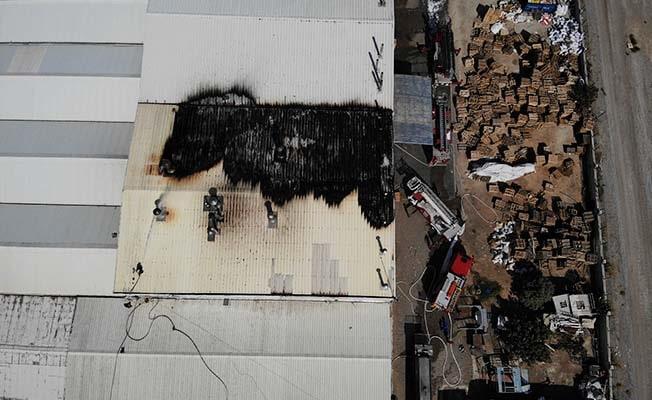 Kuruyemiş fabrikasını saran alevler kontrol altına alındı