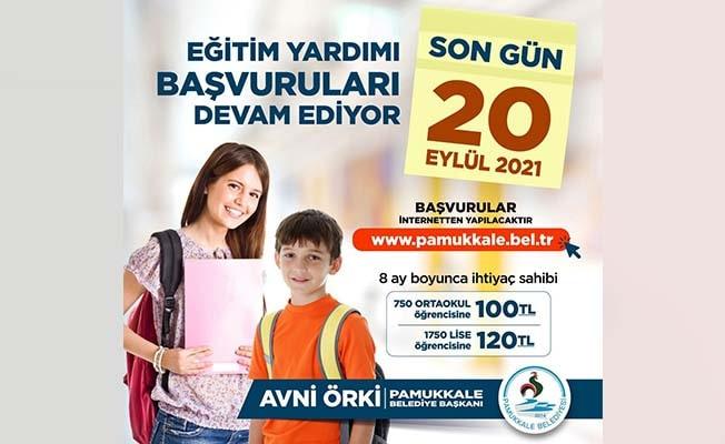 Pamukkale Belediyesi'nin eğitim yardımında son gün 20 Eylül