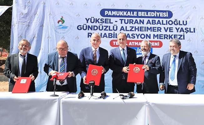 Pamukkale'de Alzheimer ve Yaşlı Rehabilitasyon Merkezi'nin temeli atıldı