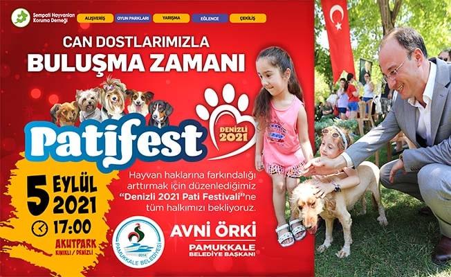 Pamukkale'de hayvan dostları festivalde buluşuyor