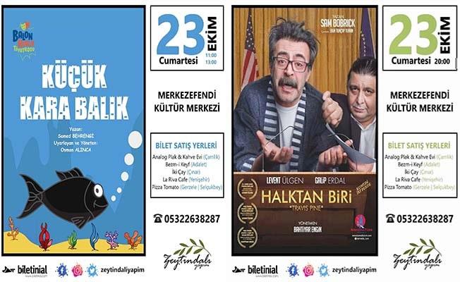 23 Ekim'de 2 keyifli oyun tiyatro severlerle buluşacak