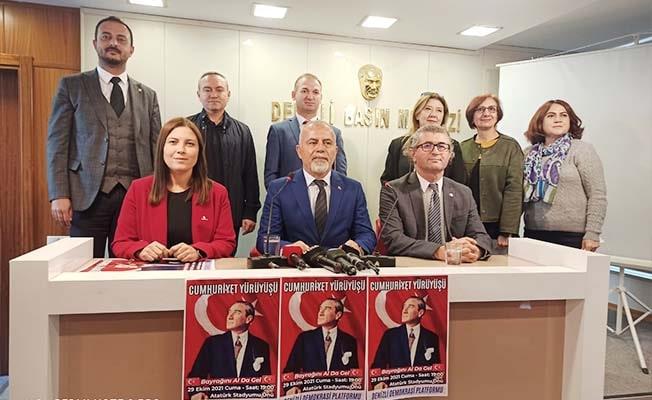 Denizli Demokrasi Platformu'ndan Cumhuriyet Yürüyüşüne davet