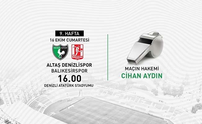 Denizlispor - Balıkesirspor maçının hakemi belli oldu