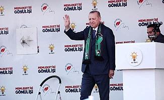 Cumhurbaşkanı Erdoğan Denizli'de halka hitap ediyor