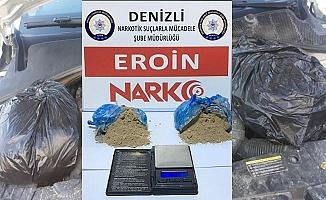 İl dışından getirdikleri uyuşturucuyu Denizli'ye ulaştıramadan yakalandılar