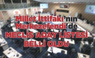 Millet İttifakı Merkezefendi meclis aday listesi belli oldu