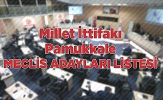 Millet İttifakı Pamukkale meclis adayları listesi