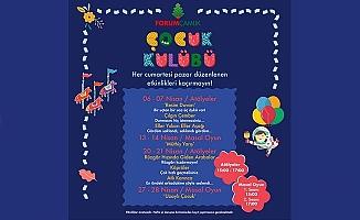 Forum Çamlık Çocuk Kulübü'nün Nisan ayı programı yine dopdolu