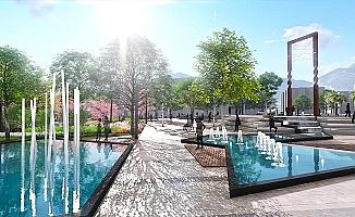 Yıkılan Özel İdare İşhanı alanı park oluyor, Demokrasi Meydanındaki park yenileniyor
