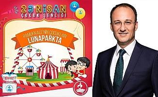Pamukkale'de Çocuklara Lunapark Sürprizi