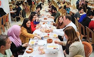 Başkan Örki sahuru öğrencilerle birlikte yaptı