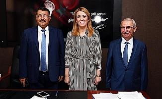 Başsavcı Yılmaz ve ve Adalet Komisyonu Başkanı Ortaköy' Başkan Doğan'a ziyaret