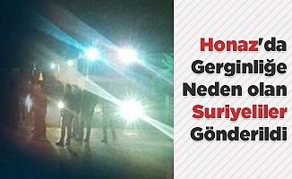 Honaz'da gerginliğe neden olan Suriyeliler gönderildi