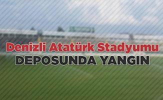 Denizli Atatürk Stadyumu deposunda yangın