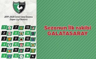Sezonun ilk rakibi Galatasaray