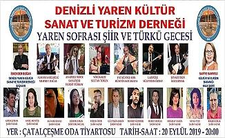 Denizli Şiire ve Türkü'ye doyacak